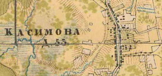 План деревни Касимово. 1885 г.