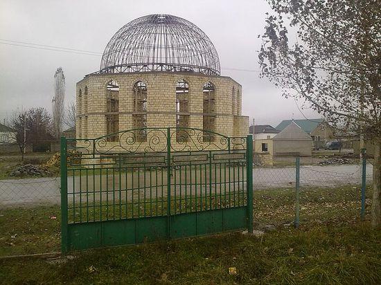 Строящееся здание мечети. 2011 г.