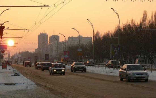 Проспект Строителей зимой