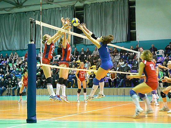 Домашняя игра волейбольной команды «Импульс» в спорткомплексе «Олимп»