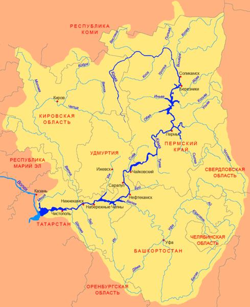 Где находится исток реки камы